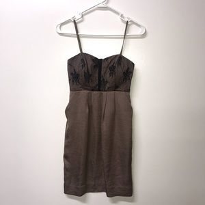 BCBGeneration Silk and Lace Dress with Pockets